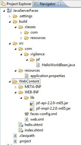 Java Server Faces : JSF 2 0 Hello World Example and JSF 2 x