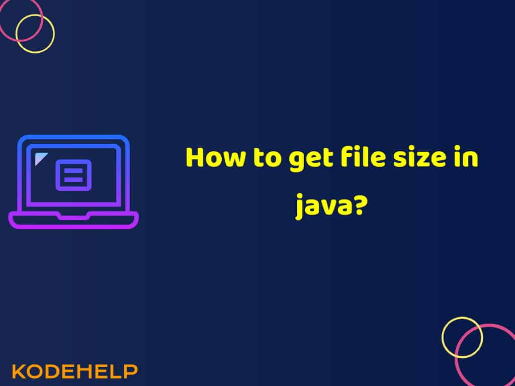 How to get file size in java?