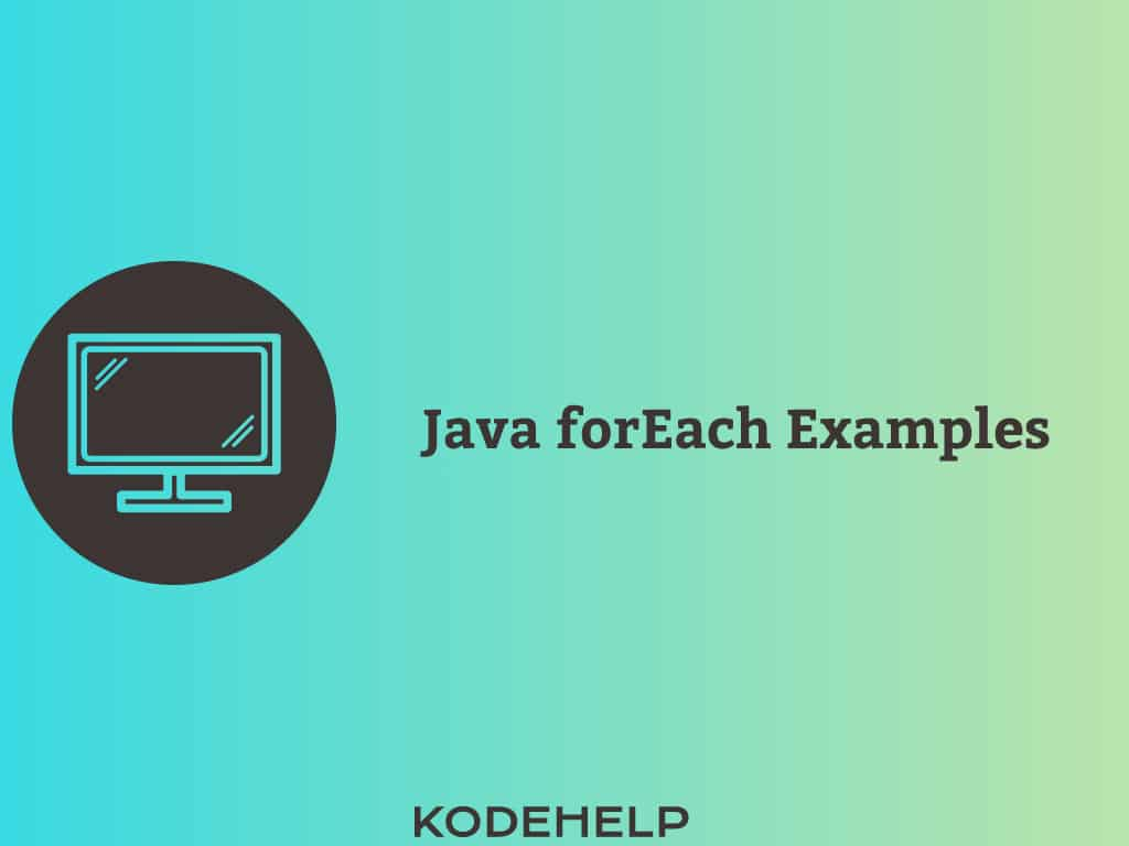 Java 8 forEach Examples