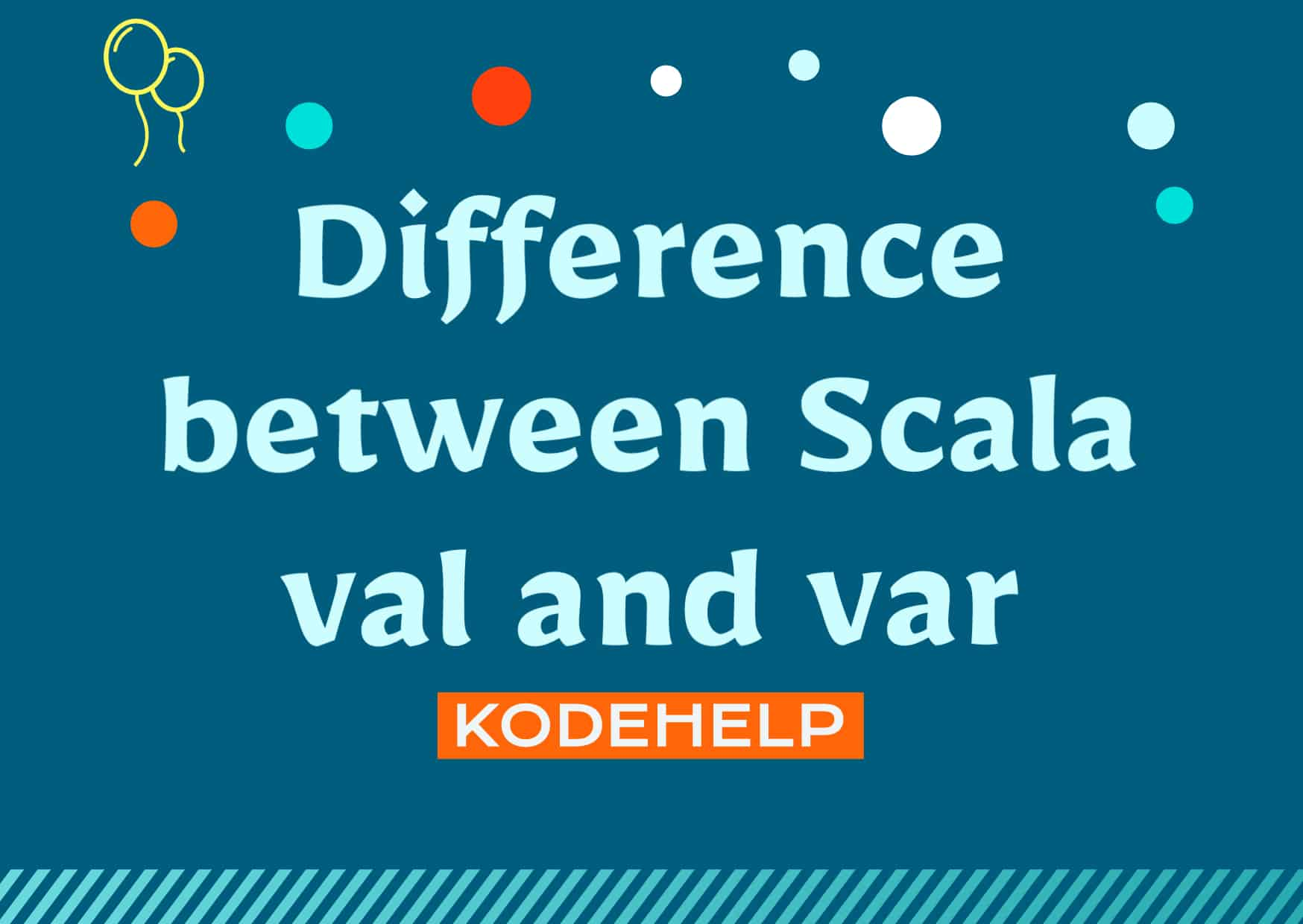 Difference between Scala val and var